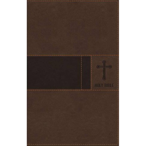 Niv, Premium Gift Bible, Leathersoft, Brown, Red Letter Edition, Indexed, Comfort Print - by  Zondervan (Leather_bound) - image 1 of 1