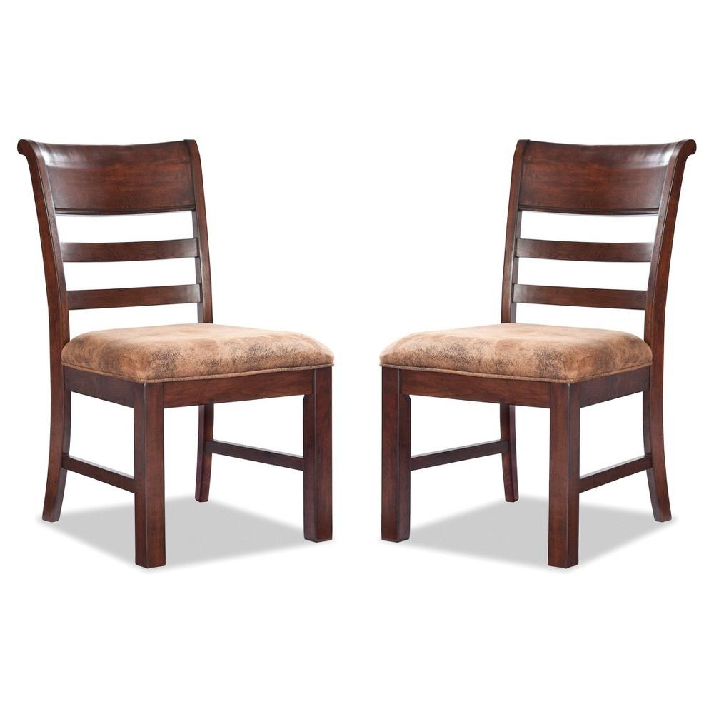 Bench Creek Ladderback Side Chair Rusty Pine Finish (Set of 2) - Intercon, Rusty Oak Finish