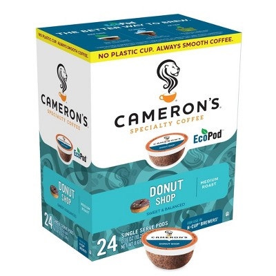 Cameron's Coffee Donut Shop Medium Roast Coffee - Keurig K-Cup Pods - 24ct