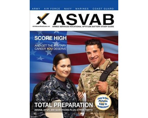 ASVAB Armed Services Vocational Aptitude Battery (Paperback) (Sharon A. Wynne) - image 1 of 1