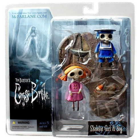 McFarlane Toys Corpse Bride Series 2 Skeleton Girl and Boy Action Figure 2-Pack - image 1 of 3