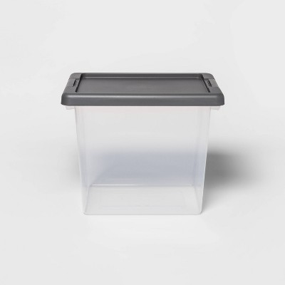 Medium Clear Latching Storage Bin - Made By Design™