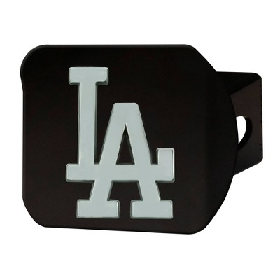 MLB Los Angeles Dodgers Chrome Metal Hitch Cover - Black