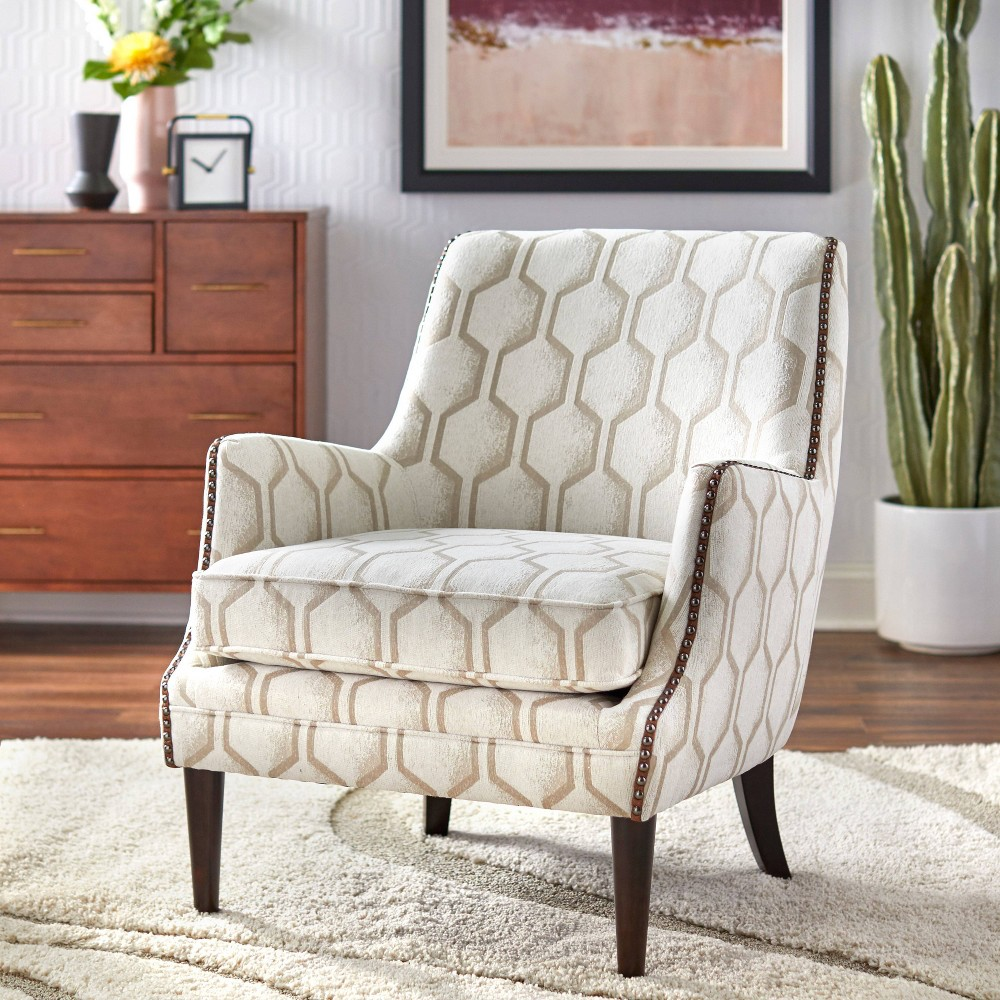 Reymon Accent Chair Pearl - Lifestorey was $399.99 now $259.99 (35.0% off)