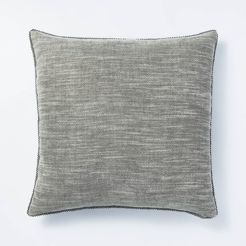 Cotton Velvet with Lace Trim Reversible Throw Pillow - Threshold™ designed with Studio McGee - image 1 of 4