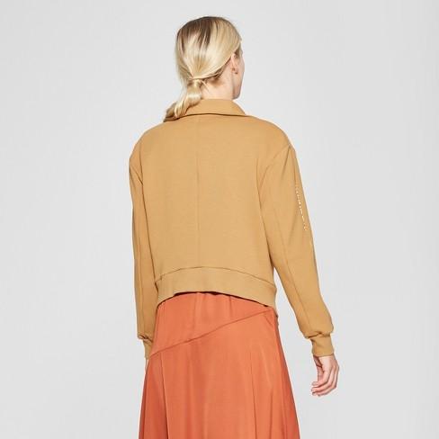 1913733e8 Women's Two Way Zip Bomber Jacket - Who What Wear™ Tan M