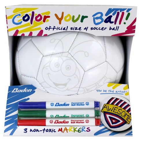 Baden Size 4 Color Your Own Soccer Ball - image 1 of 3