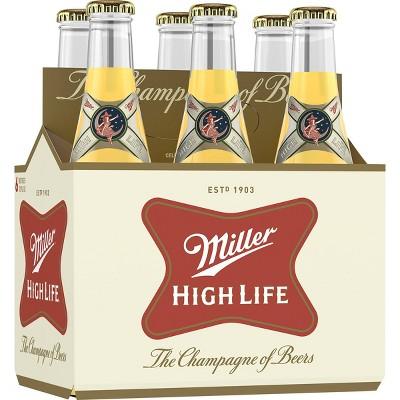 Miller High Life Beer - 6pk/12 fl oz Bottles