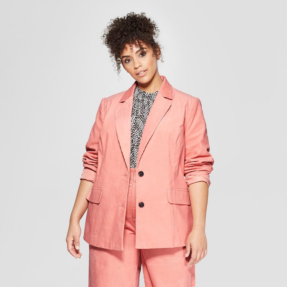 Women's Plus Size Corduroy Blazer - Who What Wear Pink 3X