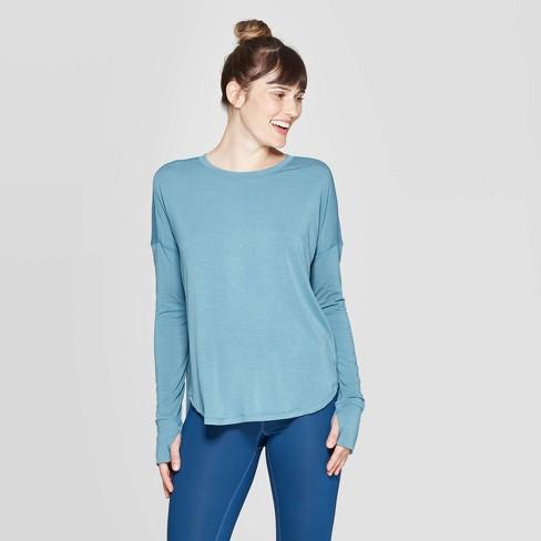 Women's Long Sleeve Draped T-Shirt - C9 Champion® - image 1 of 2