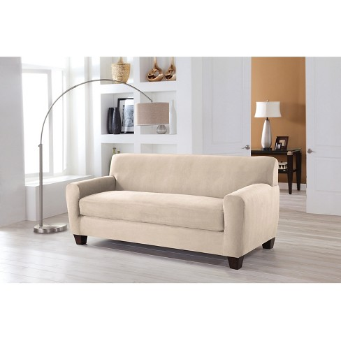 Stretch Fit Microsuede Sofa Slipcover Serta