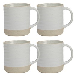 458dc3f3b3 Amici Home 22 Oz Set Of 4 Cups Sandstone Ceramic Coffee Mugs Light ...