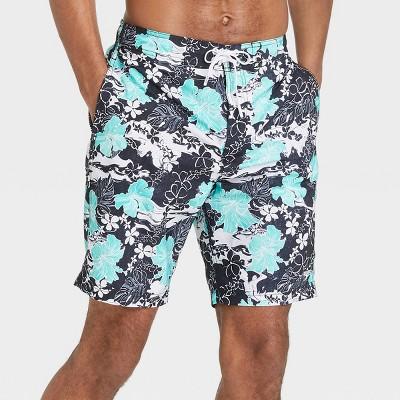 "Speedo Men's 8"" Floral Print Swim Trunks"