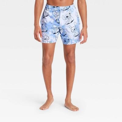 Men's Disney Stitch Pajama Shorts - Light Blue