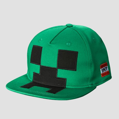 Kids' Minecraft Creeper Mob Baseball Hat - Green - image 1 of 3