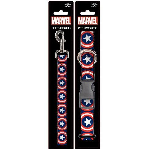 Captain America - Buckle-Down Dog Leash & Collar Set - L - image 1 of 4