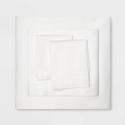 Queen Holiday 100% Cotton Solid Sheet Set Cream - Wondershop™