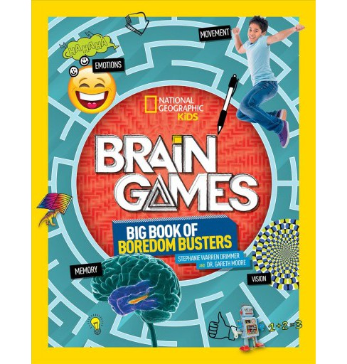 Brain Games : Big Book of Boredom Busters -  by Stephanie Warren Drimmer & Dr. Gareth Moore (Paperback) - image 1 of 1