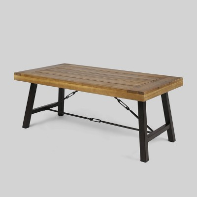 Catriona Acacia Wood Coffee Table - Teak - Christopher Knight Home