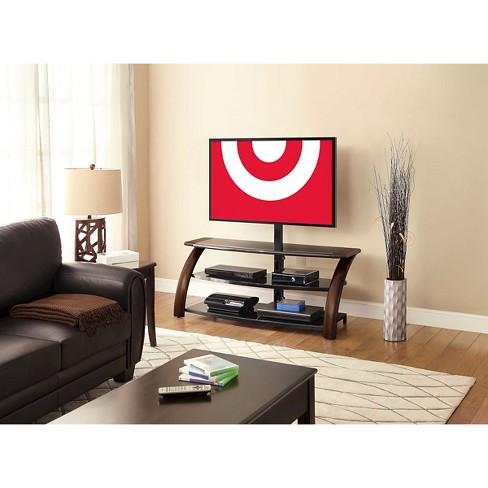 Malibu 3 In 1 Flat Panel Tv Stand Black Brown 54 Whalen Target
