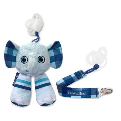 BooginHead Plush PaciPal & PaciGrip Set - 2pk Elephant