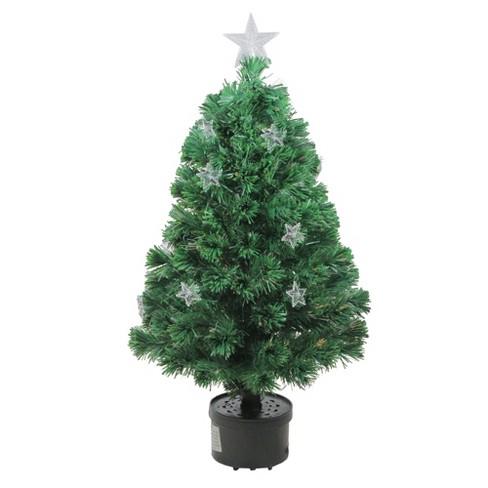 Northlight 3' Prelit Artificial Christmas Tree Fiber Optic with Stars - Northlight 3' Prelit Artificial Christmas Tree Fibe : Target