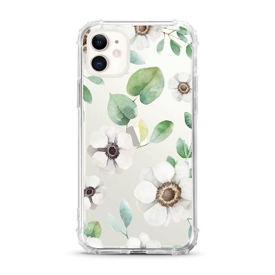 OTM Essentials Apple iPhone 11 Clear Case - Anemone Flowers White