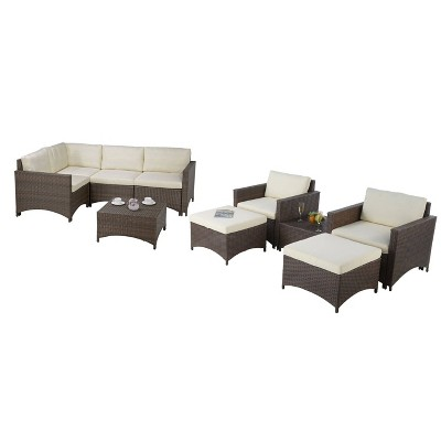 7pc Studio Shine Collection With Modular Sectional Sofa Armchairs Coffee Table Ottoman W Unlimited Target