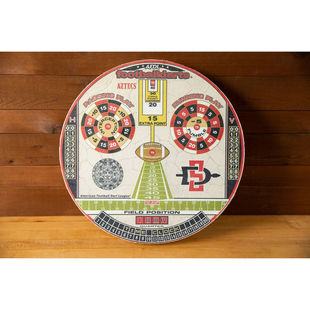 Ncaa San Diego State Aztecs Official Football Dartboard