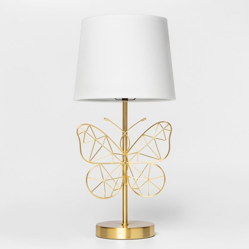 Butterfly Wire Table Lamp Gold - Pillowfort™ - image 1 of 4