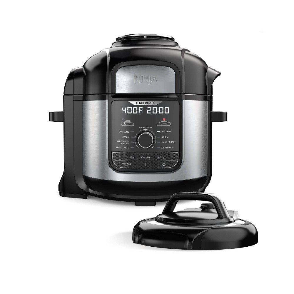Image of Ninja Foodi 8qt. 9-in-1 Deluxe XL Pressure Cooker & Air Fryer Stainless Steel FD401, Black