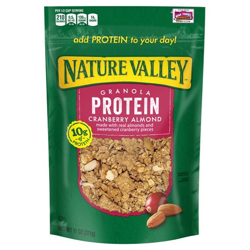 Nature Valley Protein Cranberry Almond Crunchy Granola - 11oz - image 1 of 4