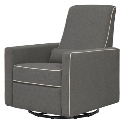 DaVinci Piper Recliner - Dark Gray/Cream