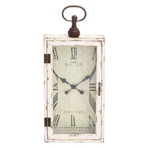 Wooden Farmhouse Decorative Wall Clock  28 X 12 - Olivia & May - image 1 of 4