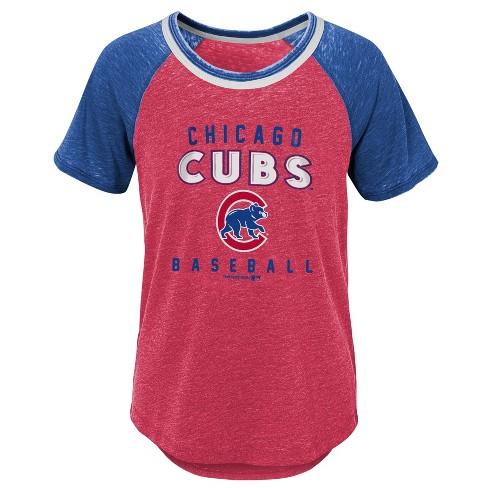 MLB Chicago Cubs Girls' Burnout Alt T-Shirt - image 1 of 1