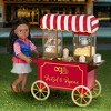 """Our Generation Retro Pretzel & Popcorn Play Food Stand for 18"""" Dolls - Poppin' Plenty Snack Cart - image 2 of 4"""