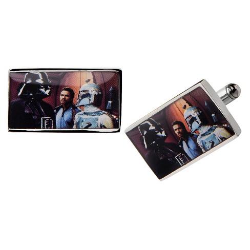 Men's Star Wars Darth Vader Graphic Stainless Steel Rectangular Cufflinks - image 1 of 1