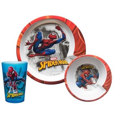 Zak Marvel® Spider-Man 3pc Dinnerware Set Red