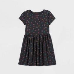 Girls' Short Sleeve Printed Knit Dress - Cat & Jack™