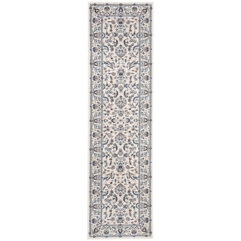 "2'3""X12' Loomed Floral Runner Rug Ivory - Safavieh - image 1 of 4"