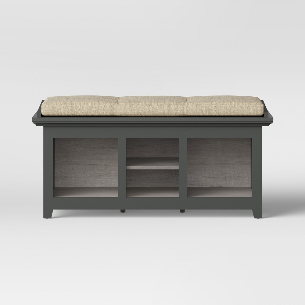 Carson Entryway Bench Gray - Threshold