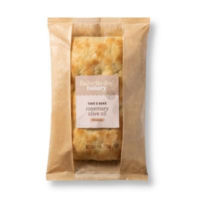 Take & Bake Rosemary Olive Oil Focaccia Bread - 7.5oz - Favorite Day™