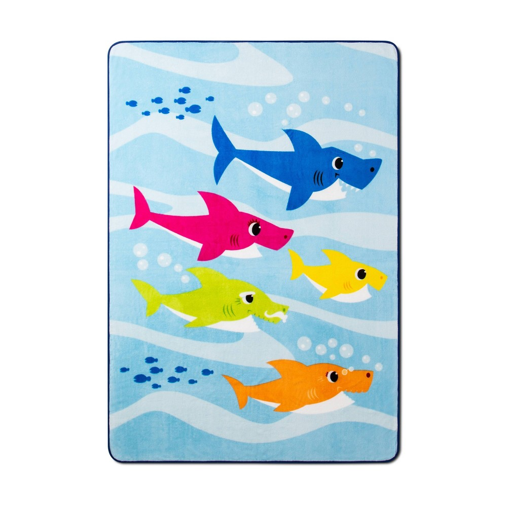 Image of Pinkfong Baby Shark Full Underwater Friends Bed Blanket