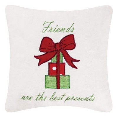 """C&F Home 10"""" x 10"""" Best Presents Embroidered Pillow"""