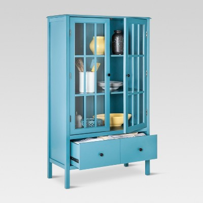 Exceptionnel Windham Tall Storage Cabinet With Drawer Teal   Threshold™ : Target
