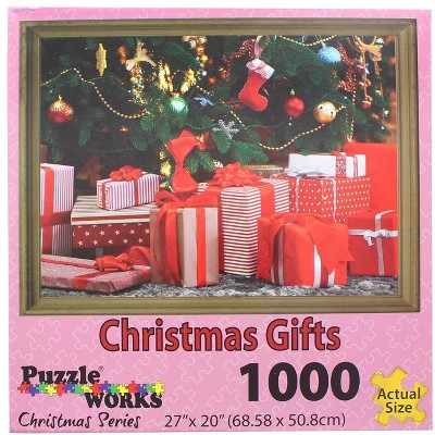 Puzzleworks Christmas Gifts 1000 Piece Jigsaw Puzzle