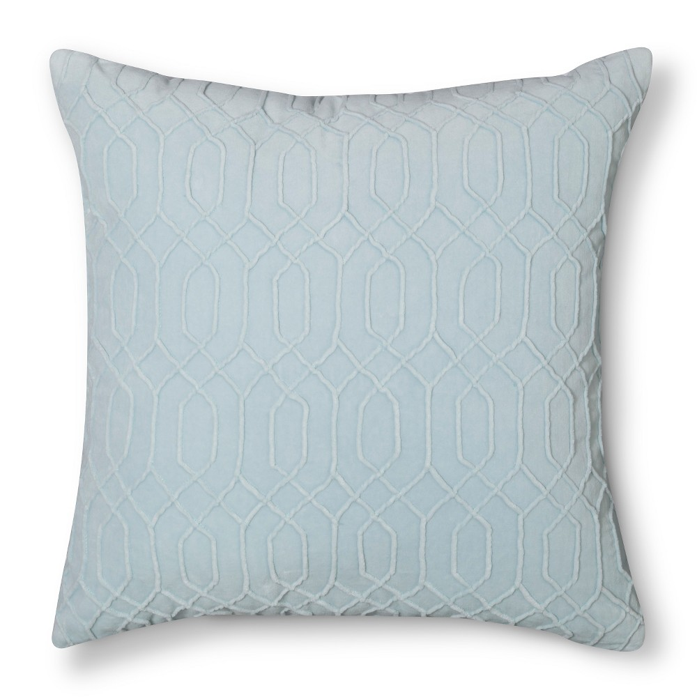 Velvet Throw Pillow Blue - Threshold