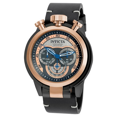 Men's Invicta 18774 I-Force Quartz Multifunction Rose Gold Dial Strap Watch - Black - image 1 of 1