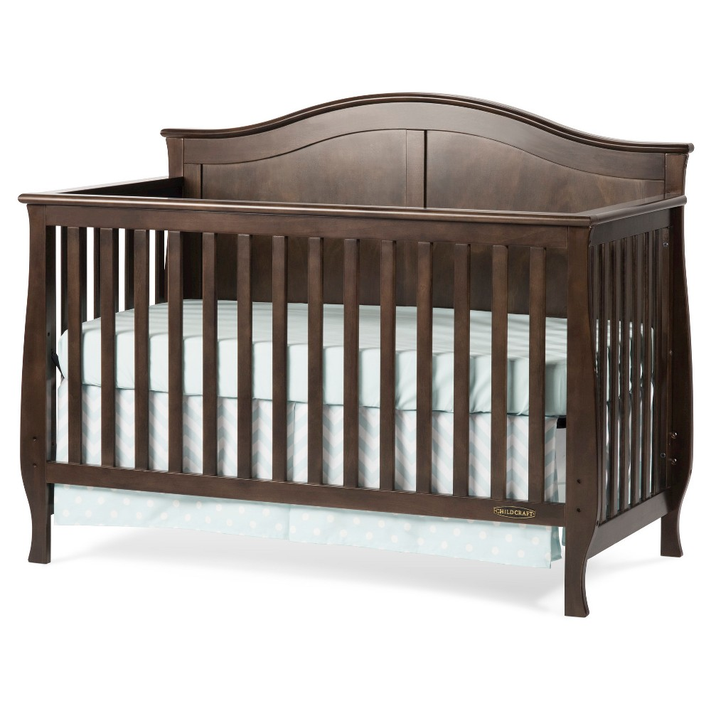 Child Craft Camden 4-in-1 Convertible Crib - Brown, Slate Brown