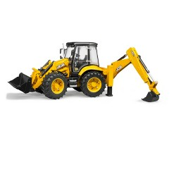 Bruder Toys JCB 5CX Eco Backhoe Loader - 1/16 Scale Realistic, Functional Toy Construction Vehicle